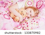 girl with toy | Shutterstock . vector #133870982