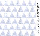 seamless hand drawn geometric...   Shutterstock .eps vector #1338713795