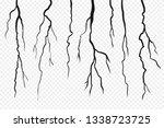 wall cracks isolated on... | Shutterstock .eps vector #1338723725