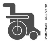 disabled chair solid icon....   Shutterstock .eps vector #1338726785