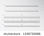 inch and metric rulers.... | Shutterstock .eps vector #1338730088