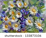 still life a bouquet of flowers.... | Shutterstock . vector #133873106
