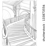 architectural sketch | Shutterstock .eps vector #133873556