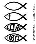 ichthus christian fish symbol... | Shutterstock .eps vector #1338745118