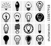 light bulb vector icon set.   Shutterstock .eps vector #133877918