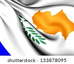 flag of cyprus. close up. | Shutterstock . vector #133878095