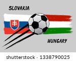 flags of slovakia and hungary   ...   Shutterstock .eps vector #1338790025