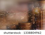 double exposure of city night... | Shutterstock . vector #1338804962