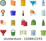 color flat icon set hook flat... | Shutterstock .eps vector #1338812192