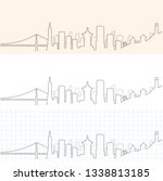 san francisco hand drawn skyline | Shutterstock .eps vector #1338813185