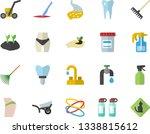 color flat icon set faucet flat ...   Shutterstock .eps vector #1338815612