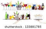 set of different alcoholic... | Shutterstock . vector #133881785