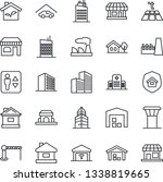thin line icon set   airport... | Shutterstock .eps vector #1338819665