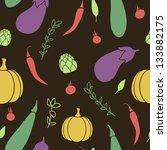 vegetables seamless pattern on... | Shutterstock .eps vector #133882175