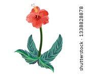 nature flower cartoon | Shutterstock .eps vector #1338828878