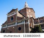 Travel to Italy - medieval Cathedral of Pavia (Duomo di Pavia, Cattedrale di Santo Stefano Martire e Santa Maria Assunta) in Pavia city in morning
