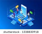 concept e learning... | Shutterstock .eps vector #1338830918