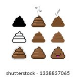 set of flat icons shit. bunch... | Shutterstock . vector #1338837065