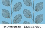 seamless pattern from leaves | Shutterstock . vector #1338837092
