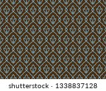 seamless ethnic vintage pattern.... | Shutterstock . vector #1338837128