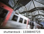 a wide angle view of a modern... | Shutterstock . vector #1338840725