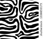hand drawn animal skin style... | Shutterstock .eps vector #1338853175