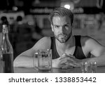 i like to go to pubs. man... | Shutterstock . vector #1338853442