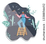 vector cartoon illustration of... | Shutterstock .eps vector #1338856652