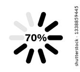 percentage loading indicators... | Shutterstock .eps vector #1338859445