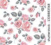 blooming roses. spring summer... | Shutterstock .eps vector #1338883568