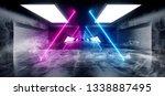 smoke sci fi triangle shaped... | Shutterstock . vector #1338887495