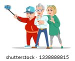 set of cheerful senior people... | Shutterstock . vector #1338888815