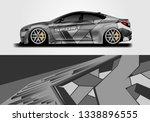 car sporty wrap decal design... | Shutterstock .eps vector #1338896555