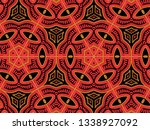 a hand drawing pattern made of... | Shutterstock . vector #1338927092