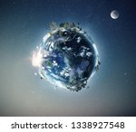 full view of planet earth from... | Shutterstock . vector #1338927548