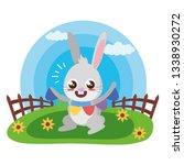 cute rabbit with carrot | Shutterstock .eps vector #1338930272