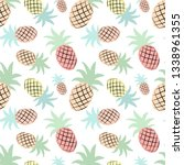 seamless tropical pattern with... | Shutterstock .eps vector #1338961355