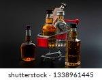 buy booze  shopping the liqueur ... | Shutterstock . vector #1338961445