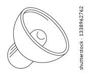 bullhorn volume symbol isolated ... | Shutterstock .eps vector #1338962762