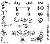 swirl ornament dividers. hand... | Shutterstock .eps vector #1338966668
