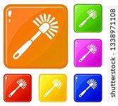 toilet brush icons set... | Shutterstock .eps vector #1338971108