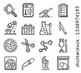 forensic laboratory icons set.... | Shutterstock .eps vector #1338974195
