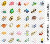 coffee icons set. isometric...   Shutterstock .eps vector #1338974288