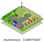 construction machinery concept... | Shutterstock .eps vector #1338975605