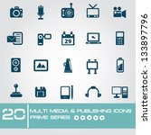 multi media   publishing icons... | Shutterstock .eps vector #133897796