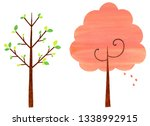 spring trees set | Shutterstock . vector #1338992915