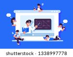 online education and graduation ... | Shutterstock .eps vector #1338997778