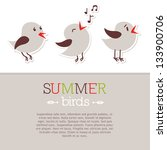 template with three bird...
