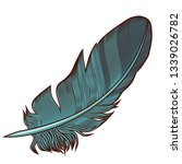 wing and feather vector | Shutterstock .eps vector #1339026782