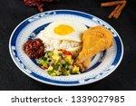 asian food nasi lemak  | Shutterstock . vector #1339027985